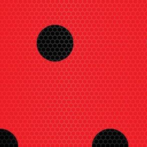 Ladybug Pattern Fabric
