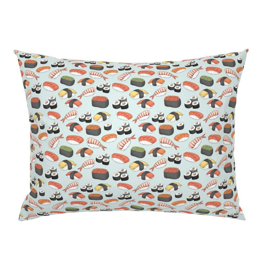 Campine Pillow Sham featuring Sushi Roll Funny Food by furbuddy