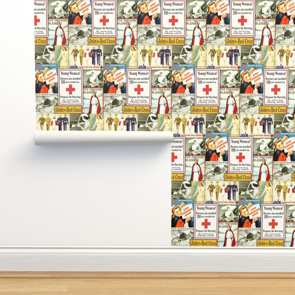 Isobar Durable Wallpaper featuring Red Cross Nurse Heroes by nurseinsomniac