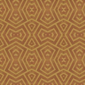 block print triangles on ochre lg