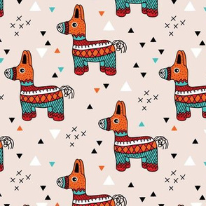 Cool piñata birthday party mexican horse illustration geometric details gender neutral