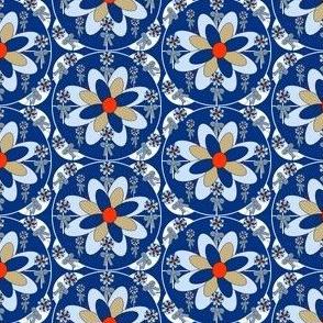 Colonial Raggedies Flowers & Bows Fabric #3