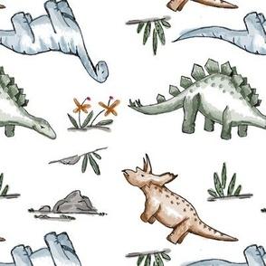 Watercolor Dinos