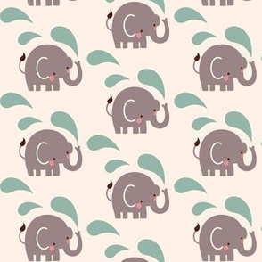 Paisley elephant repeat
