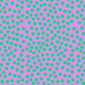 bubble dot green pink