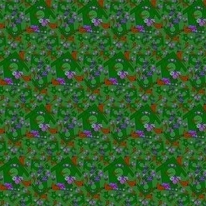 Doris Marie Yellow Birds and Flowers Fabric #2