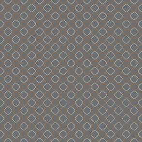 Bloom-Orange/Robin's Egg Deco Pattern