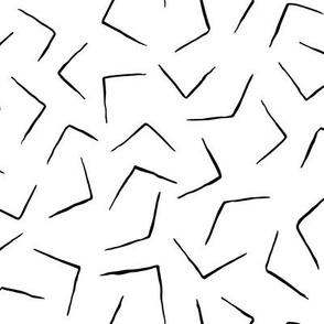 Boomerangs - Black on White