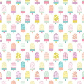 Colorful popsicle ice cream summer illustration pattern XS