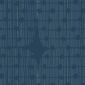 RETRO LINE PATTERN BLUE