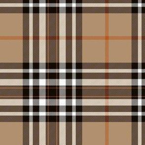 """Southdown tartan - 6"""" tan/black/white/orange"""