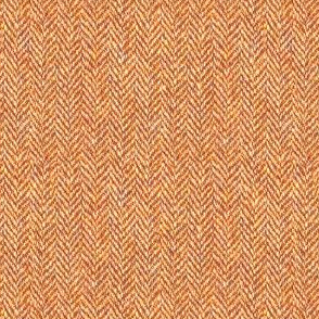faux tweedy burnt orange herringbone tweed