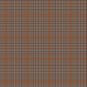 "Prince of Wales check #2, 2"" repeat, brown/taupe/burnt orange"