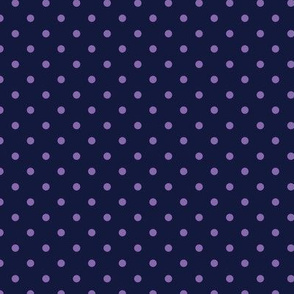 Polka Dot Purple on Navy