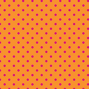 Polka Dot Pink on Orange