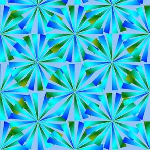 Dean's Bursting Flowers ~ Shimmering Light Blue