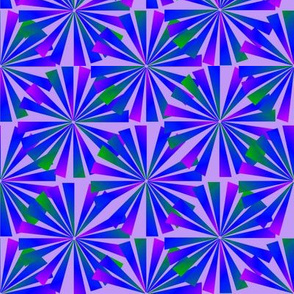 Dean's Bursting Flowers ~ Blue & Green