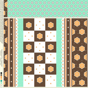 Checkerboard Tote - Peppermint - flexible kit plus bonus