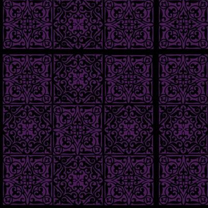 Black and Purple Patchwork