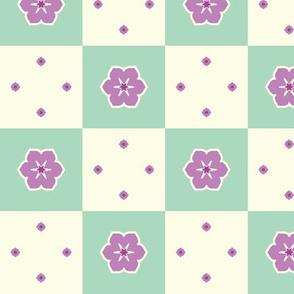 Checkerboard Petal - Victorian Violet