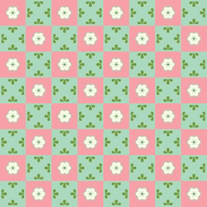 Checkerboard Leaf - Victorian Rose