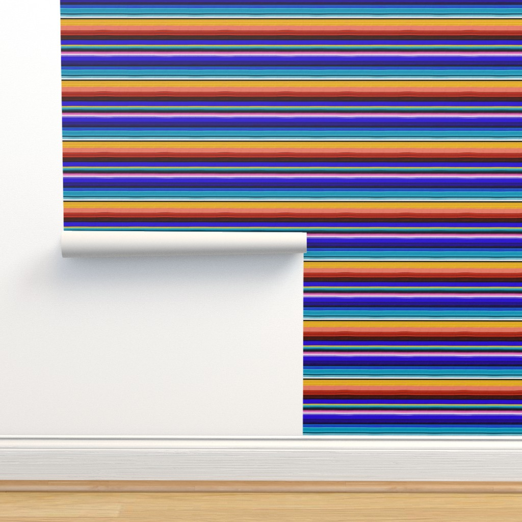 Isobar Durable Wallpaper featuring Mexican Stripes by vannina
