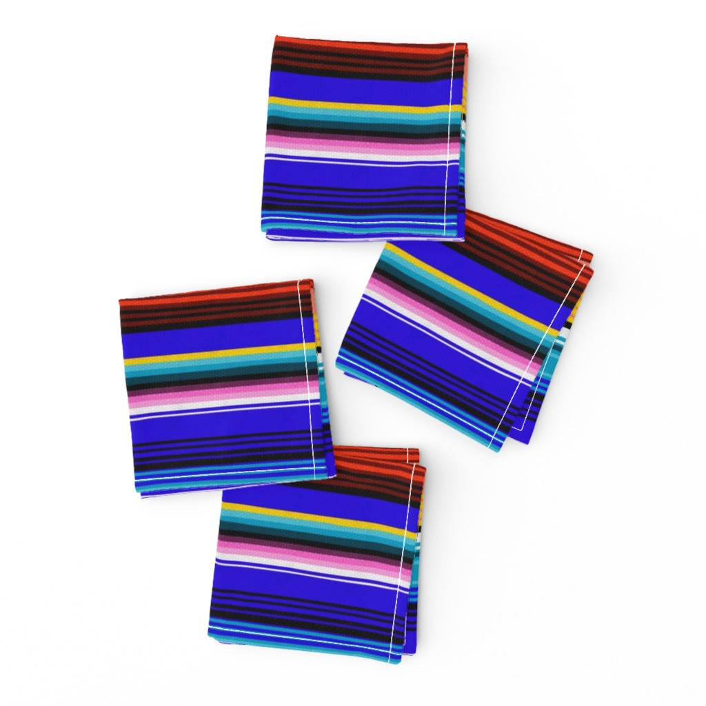 Frizzle Cocktail Napkins featuring Mexican Stripes by vannina