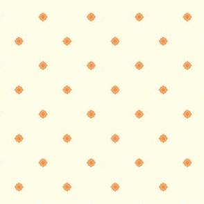 Dot Floral - Victorian Apricot