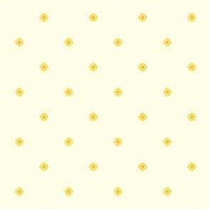 Dot Floral - Victorian Lemon
