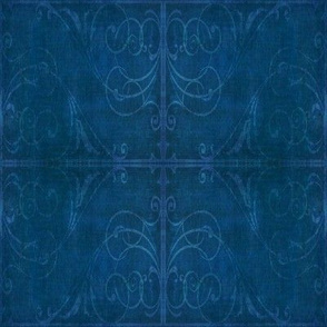 Gothic Fence in Blue, squared
