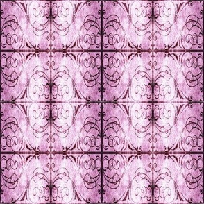 Gothic Fence in Purple & Pink, squared