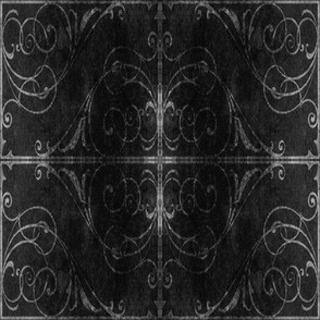 Gothic Fence in Black, squared