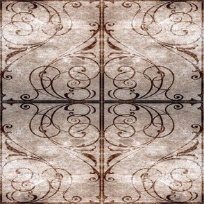 Gothic Fence in Brown, squared