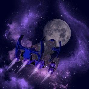 Spaceship Planet and Nebulae_8x8