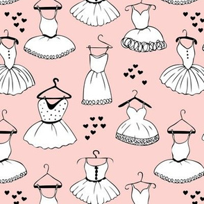 Little ballerina dance leotard dress for ballet lovers and prom girls soft pastel pink