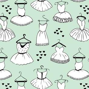 Little ballerina dance leotard dress for ballet lovers and prom girls soft mint