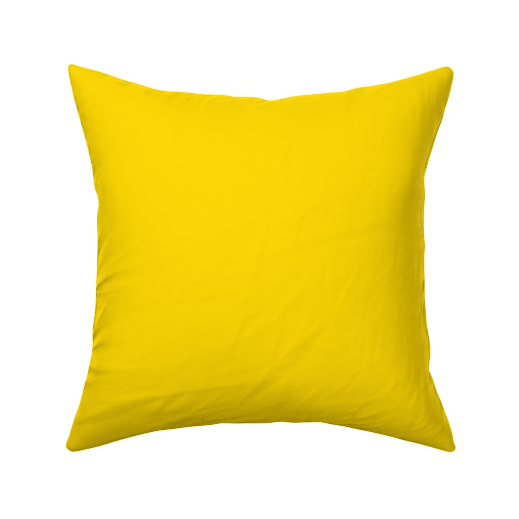 Catalan Throw Pillow featuring Solid Yellow by lyddiedoodles