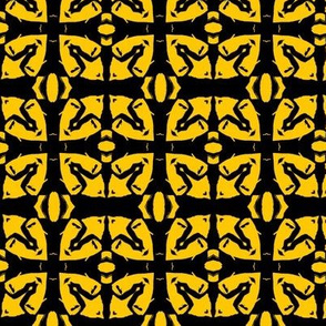 Invisible Madman: Abstract Windows in Yellow & Black