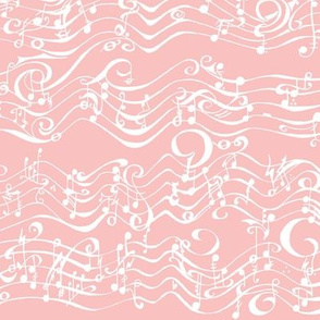Phantom Music - White on Pink