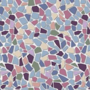 Mosaic mix Blue purple