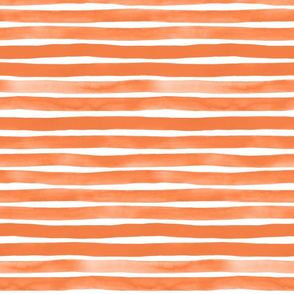 Watercolor Stripes M+M Tangerine by Friztin