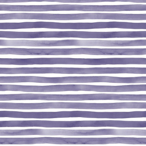 Purple Watercolor Stripes by Friztin