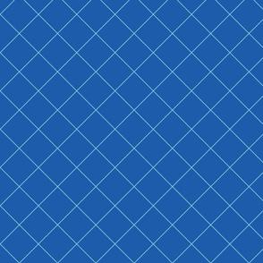 Blue Grid Diagonal