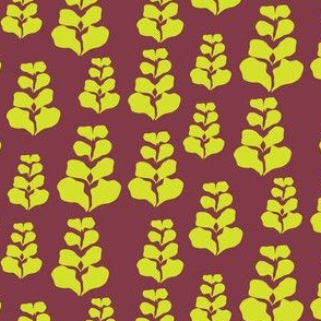 Maroon Lime Tiny Dancer Leaves_Miss Chiff Designs