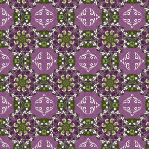 Kaleidoscope Cross-purples/whites