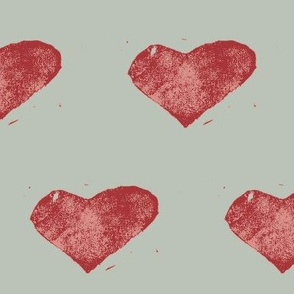 stamped with love - sage green and red