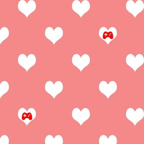 Gaming Hearts in Pink