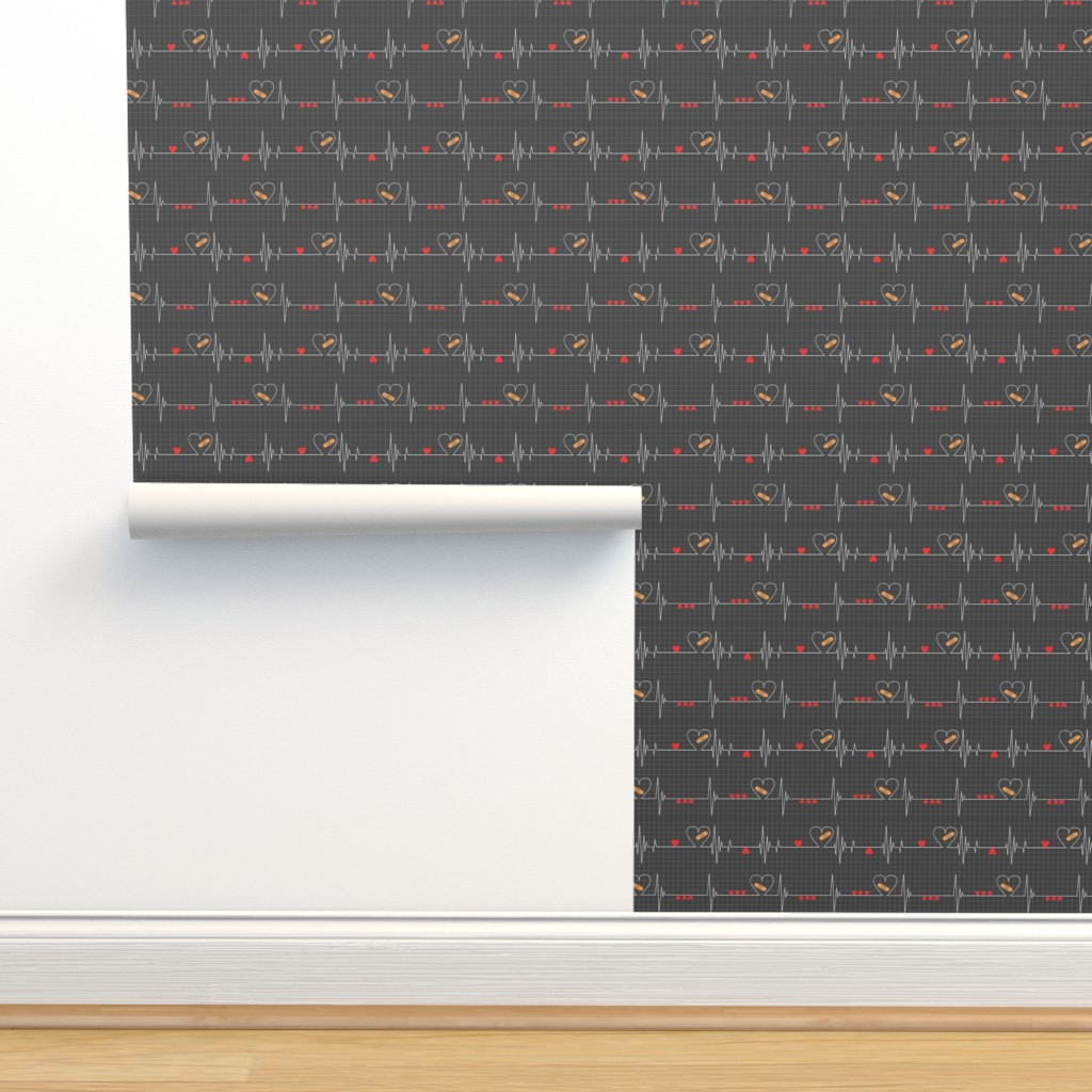 Isobar Durable Wallpaper featuring Heart Health Awareness - Black by ohdarkthirty