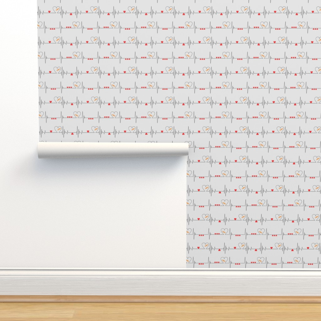 Isobar Durable Wallpaper featuring Heart Health Awareness - Light Gray (large) by ohdarkthirty