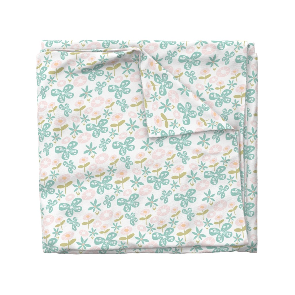 Wyandotte Duvet Cover featuring Floral Bunch by studiojulieann